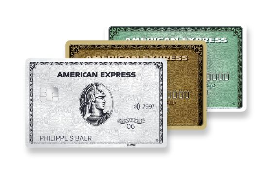 American Express Platinum, Gold, Green