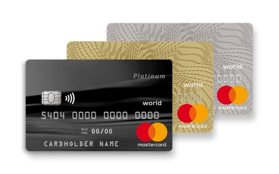 World Mastercard Platinum, Gold, Standard
